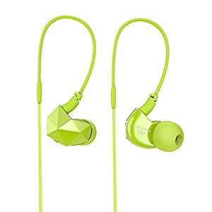 Sound Intone E6 Sports Earphones, Stereo?n-Ear Headphones with Microphone, Remote, and Volume Control?Tangle Free, Noise Isolating , for iPhone, iPod, iPad, MP3 Players, Samsung, Nokia, HTC, Nexus,etc (Green) by Sound Intone