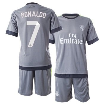 f1bbb3ce2 Ronaldo  7 Real Madrid Away Kids Soccer Jersey Kit with Free Shorts Youth  Sizes (Youth Medium  8-10 years old) - Buy Online in UAE.