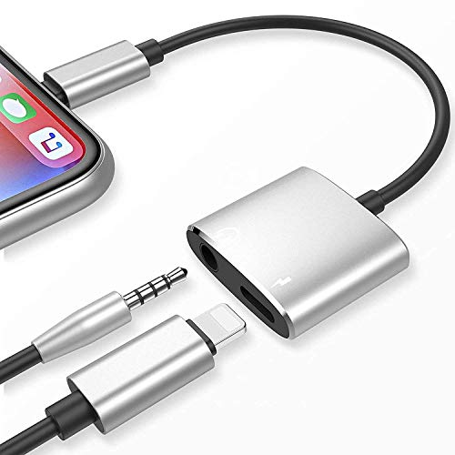 Solosong 3.5mm Headphone Jack Adapter Headset Splitter Connector Compatible Accessories,Earphone Audio&Charge Aux Cable