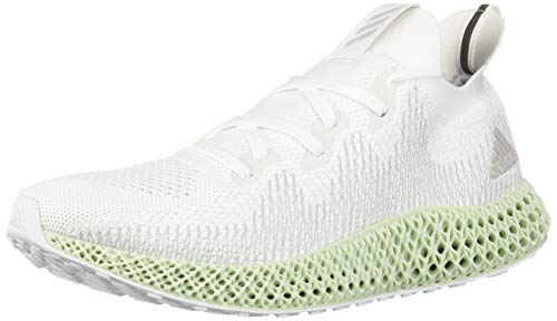 adidas Men's AlphaEdge 4D Running Shoe, White/Grey/Linen Green, 8.5 M US