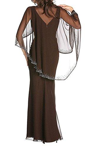 Chiffon Figurbetont Braut Festlichkleider Langes Blau Partykleider Dunkel Etuikleider La Abendkleider Brautmutterkleider mia Elegant tBvW6q
