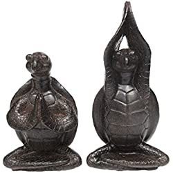 Zen Garden Inner Peace Yoga Turtles Set of 2 Figurine Collectible Sculpture Decor 4 inch Tall