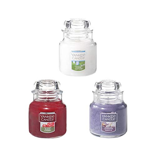 Yankee Candle Mini Sample Size Classic Glass Jars, Set of 3 Assorted Scents, 3 Inches 3.7 OZ Each