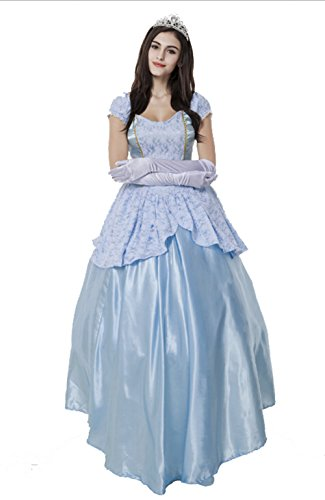 Sinastar Halloween Sissi Princess Queen Royal Cosplay Costume Ball Party Dress (Medium) (Princess Jasmine Costume Adults Plus Size)