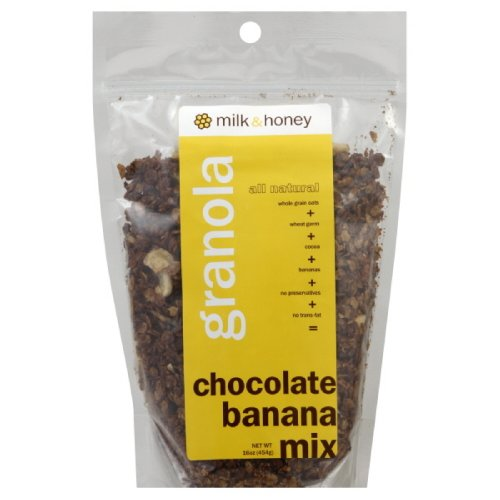 Milk & Honey Granola, Chocolate Banana, 16-Ounce (Pack of 4) (Breakfast Wicker Park In)