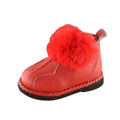 Huhu833 Kinder Mode Jungen Mädchen Stiefel Martin Stiefel Winter Schnee Warm Ankle Boots Zipper Kinder Chelsea Schuhe Rot