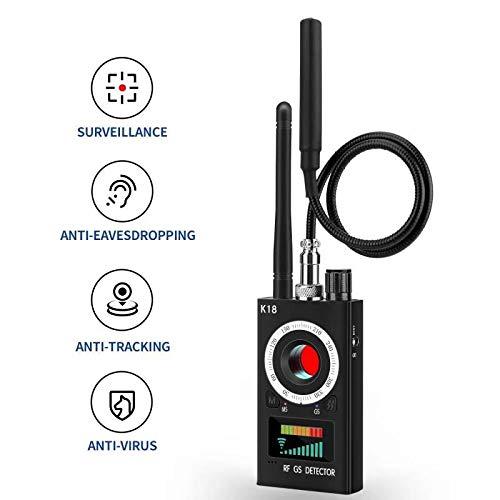 Camera Detector Wireless Bug Detector for Hidden Camera Audio, RF Anti Spy Detector LDE Laser Technology Camera Finder for Anti-Listening/Sneak Shot/Tracking, Camera Finder for Meeting/Car/Hotel