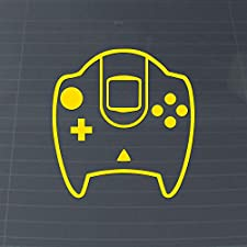 Dream Controller Retro Gaming Vinyl Decal (Canary Yellow)