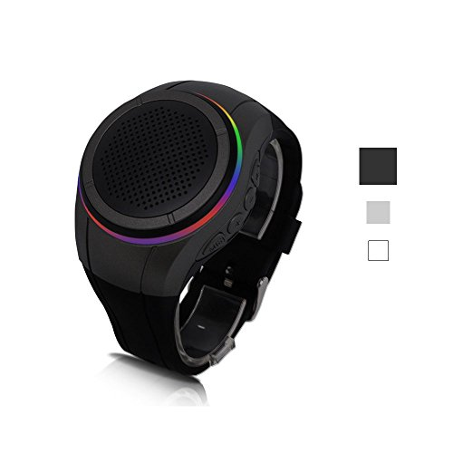 Seekermaker LED Bluetooth Speaker Watch Mini Portable Sport Running wrist Strap Universal Outdoor Portable Small Stereo Bluetooth Black