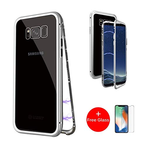 more photos c4a8f e1aa4 Amazon.com: Magnetic Adsorption Flip Phone Case for Samsung Galaxy ...