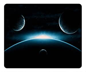 Starry Sky Design Rectangular Mouse Pad Light in Space by icecream design