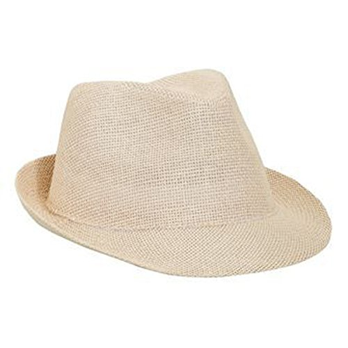 (Product of Ottocap Twisted Toyo Straw Fedora -Natural, M [Wholesale Price on Bulk])