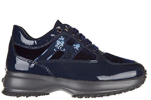 Hogan chaussures baskets sneakers enfant filles en cuir neuves interactive h mic