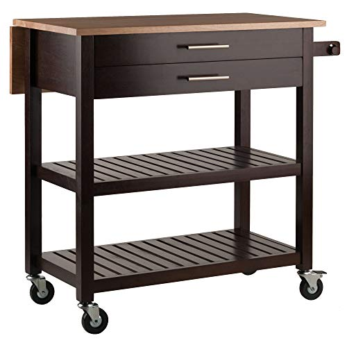 Winsome Wood 40826 Langdon Cart Kitchen, (Best Kitchen Cart With Knife Blocks)