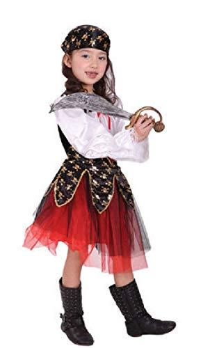 Carol Garden Girls Halloween Costume Pirate Princess Cosplay Dress (M) -