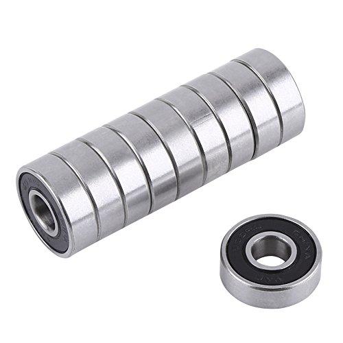 Yowming 10 Pack R6-2RS Sealed Bearings 3/8 x 7/8 x 9/32 Ball Bearings/Pre-Lubricated