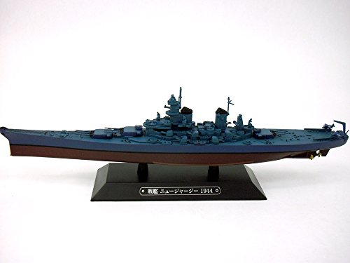 Battleship New Jersey (BB-62) 1/1100 Scale Diecast Metal Model Ship (Diecast Metal Ship)