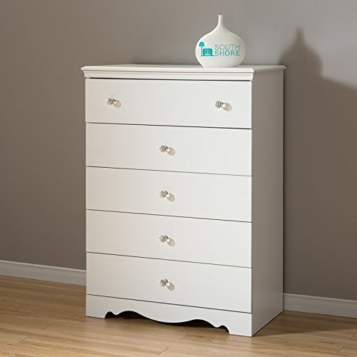 5 Drawer Chest In Pure White Color Made of Angineered Wood and Simple Design Make This Add to Your Bedroom Now by eCom Fortune (Image #5)