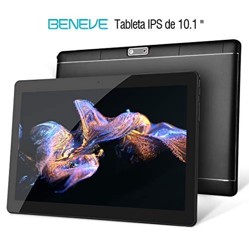 Beneve Tablet PC de 10 Pulgadas,Tab10 Inch 1280 * 800 Resolución,Android 7.0 Nougat,2GB+32GB,Dual sim 4G Panel de 10.1 HD...