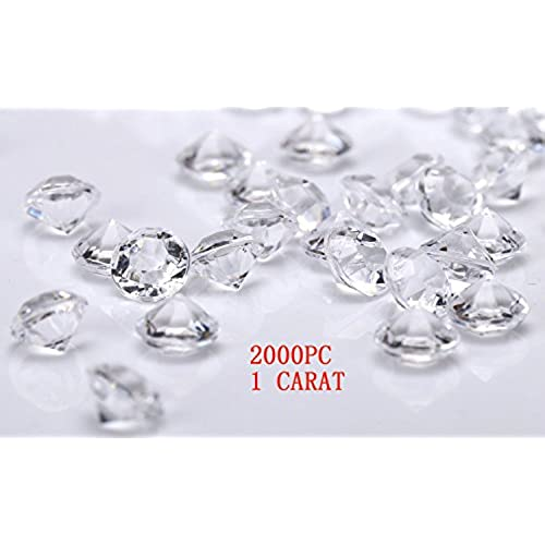 jollylife 2000 diamond table confetti wedding bridal shower party decorations 1 carat 65mm clear