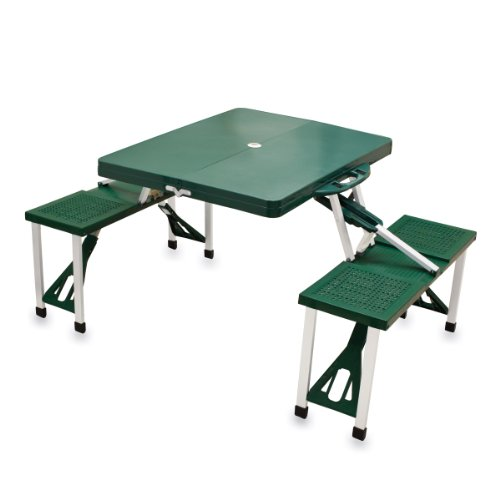 Picnic Time 'Portable Folding Picnic Table' with Seating for 4, Green (Lawn Table)