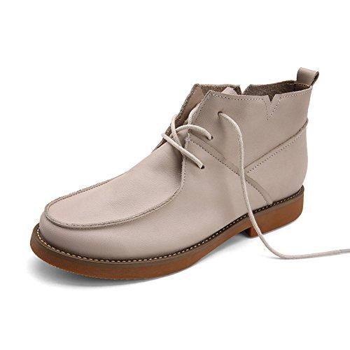Vintage hechos a mano zapatos en otoño/Botines planos/Cargadores de la señora A