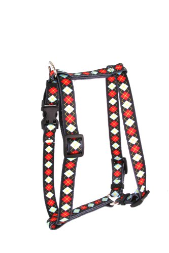 Yellow Dog Design Roman Harness, Large, Red Argyle from Yellow Dog Design