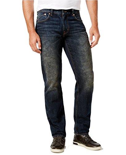 LRG Men's True Tapered Denim Jeans (38, Dark-Stained Indigo)