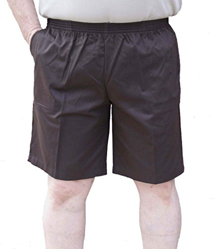 The Senior Shop Men's Elastic Waist Twill Walking Short X-Large Brown