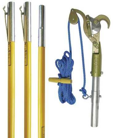 Tree Pruner, (3) 6 ft Poles, Fiberglass