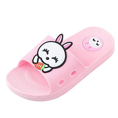 Baby Kids Girls Boys Toddler Home Slippers, Huazi2 Cartoon Rabbit Shoes Sandals Pink ()
