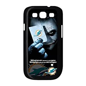 Christmas Gifts Custom Diydesign NFL Miami Dolphins With Joker Poker Samsung Galaxy S3 I9300/I9308/I939 Hard Plastic Durable Back Case Snap On