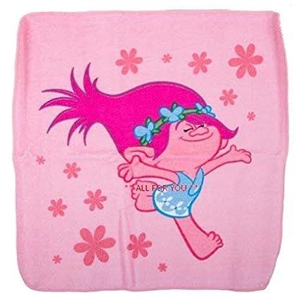 Trolls - Toalla de baño para niños y niñas, diseño de flores suaves rosas,