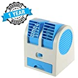 TechSky Portable Small Plastic Air Conditioner Water Cooler Mini Fan and Dual Bladeless for Use in Car/Home/Office and Other