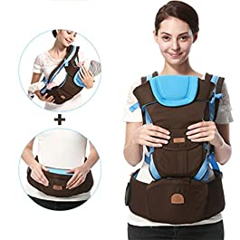 Xinqin Ding Made of Cotton Baby Carrier, with Adjustable Bucket seat, Ergonomic All-Position Baby Carrier