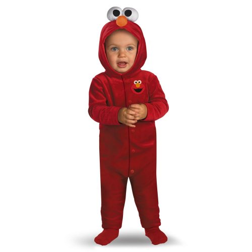 [Giggling Elmo Infant Costume,Red,12-18 Months] (Sesame Street Costumes For Babies)