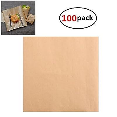 Yamde Multipurpose Kraft Paper Sheet for Packaging Wrap, 12 in Length x 12 in Width?Food Grade