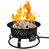Bond Manufacturing 67836 54,000 BTU Aurora Camping, Backyard, Tailgating, Hunting and Patio. Locking Lid & Carry Handle Portable Steel Propane Gas Fire Pit Outdoor Firebowl, 18.5