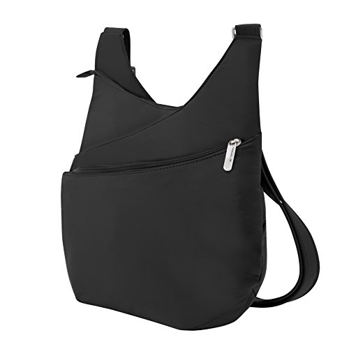 Travelon Anti-Theft Drape Front Shoulder Bag, Black, One Size