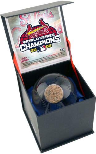 St. Louis Cardinals 2006 MLB World Series Champions Crystal Baseball with Game Used 2006 World Series Dirt Fanatics Authentic Certified