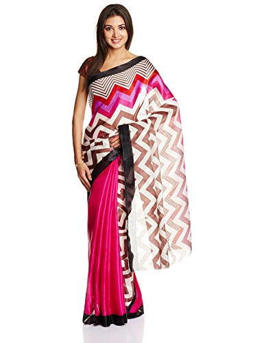 Boondh Saree with Blouse Piece (93731_Pink)