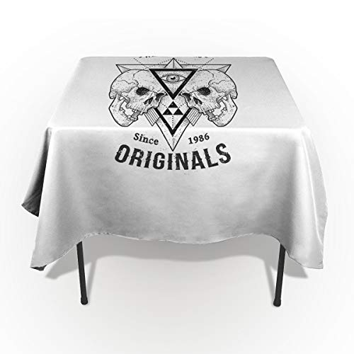 Fantasy Star Rectangle Polyester Tablecloth, Out Stream Williamsburg Skull Tablecloths Machine Washable Table Cover Decorative Table Cloth for Kitchen Dinning Banquet Parties 53 x 70 -