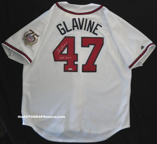 (Tom Glavine Autographed Atlanta Braves Jersey with Hall of Fame 2014 inscription)