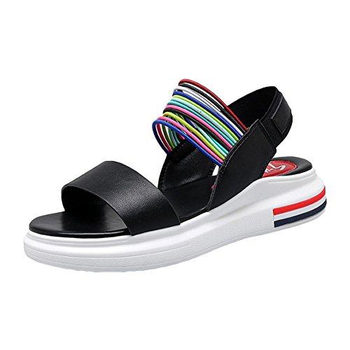 Sandales de chaussure à fond d'été pour les femmes roms black 37
