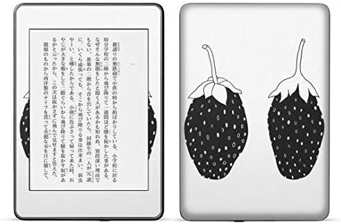 igsticker kindle paperwhite 第4世代 専用スキンシール キンドル ペーパーホワイト タブレット 電子書籍 裏表2枚セット カバー 保護 フィルム ステッカー 015746 いちご 果実 食べ物