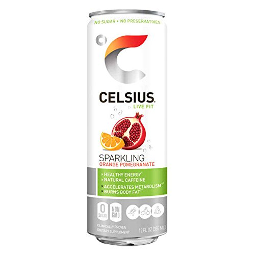 Celsius Sparkling Orange Pomegranate RTD, 12 Ounce (Pack of 24) ()