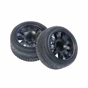 SP Delrin rear wheel set: HPI Micro RS4 for 1717 (Japan import / The package and the manual are written in Japanese)