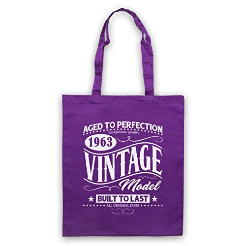 Born Date Year In Model Bag amp; 1963 Vintage Icon My Birth Clothing Purple Tote Art P0xTqfZ