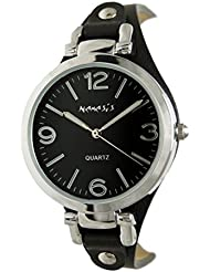 Nemesis Ladies Black and Silver Classic Watch, 315k