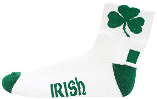 Ireland Heel/Toe White Quarter Socks, - Ireland Bay Donegal Socks White